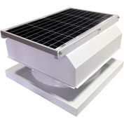 Attic Breeze® GEN 2 AB-4042A-WHT Curb Mount Attached Solar Attic Fan 40W White