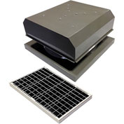 Attic Breeze® GEN 2 AB-4042D-GRY Curb Mount Detached Solar Attic Fan 40W Gray