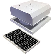 Attic Breeze® GEN 2 AB-4042D-WHT Curb Mount Detached Solar Attic Fan 40W White