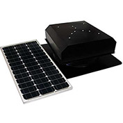 Attic Breeze® Grande™ AB-602-BLK Self-Flashing Detached Solar Attic Fan, Black