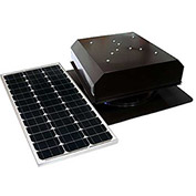 Attic Breeze® Grande™ AB-602-BRN Self-Flashing Detached Solar Attic Fan, Brown