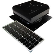 Attic Breeze® GEN 2 AB-6022D-BLK Self-Flashing Detached Solar Attic Fan 60W Black