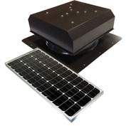 Attic Breeze® GEN 2 AB-6022D-BRN Self-Flashing Detached Solar Attic Fan 60W Brown