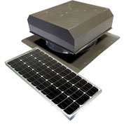 Attic Breeze® GEN 2 AB-6022D-GRY Self-Flashing Detached Solar Attic Fan 60W Gray
