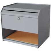"Sandusky Steel Suggestion Box with Storage Compartment, 10""L x 12-1/2""W x 11""H"