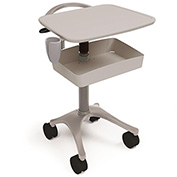 Anthro® Zido Ultrasound Medical Cart BZD02SB/CG4 Slate Blue-Cool Grey