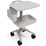 Anthro® Zido EKG Medical Cart BZD03SB/CG4 Slate Blue-Cool Grey