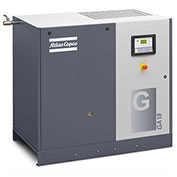 Atlas Copco GA22, 30HP, Rotary Screw Compressor, Tankless, 125 PSIG, 3-Phase 208-230/460V, w/ Dryer