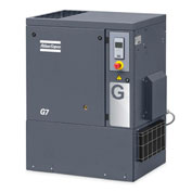 Atlas Copco G11, 15 HP, Rotary Screw Compressor, Tankless ,Horizontal, 125 PSIG,3-Phase 208-230/460V