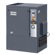 Atlas Copco G11, 15 HP, Rotary Screw Comp., Tankless, Horiz, 125 PSIG,3-Phase 208-230/460V, w/ Dryer