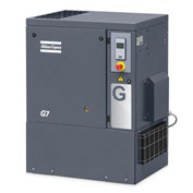 Atlas Copco G15, 20 HP, Rotary Screw Comp., Tankless, Horiz, 125 PSIG,3-Phase 208-230/460V, w/ Dryer