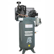 Atlas Copco AR-5, 5 HP, Two-Stage Piston Compressor, 80 Gal, Vertical, 175 PSIG, 1-Phase 208-230V