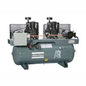 Atlas Copco AR-10, 10 HP, Two-Stage Duplex Piston Comp., 120 Gal, Horiz., 175 PSIG, 3-Phase 208-230V