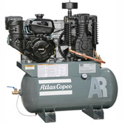 Atlas Copco AR-13, 13 HP, Two-Stage Comp., 30 Gal, Horiz., 175 PSIG, Kohler Engine, Electric Start
