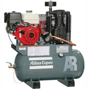 Atlas Copco AR-13, 13 HP, Two-Stage Comp., 30 Gal, Horiz., 175 PSIG, Honda Engine, Electric Start