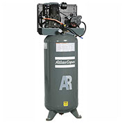 Atlas Copco AR-P38, 3.5 HP, Single-Stage Piston Compressor, 60 Gal, Vertical, 145 PSIG,1-PH 208-230V