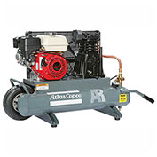Atlas Copco AR-5.5, 5.5 HP, Single-Stage Comp., 2x4 Gal, Horiz., 145 PSIG, Honda Engine,Recoil Start