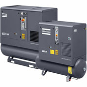 Atlas Copco GX2, 3 HP, Oil-Injected Rotary Screw, 53 Gallon, Horizontal, 150 PSIG, 1-Phase 230V