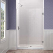 "Dreamline SHDR-243257210-04 Unidoor Plus Hinged Shower Door, Brushed Nickel, 32-1/2 to 33"" x 72"""