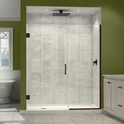 "Dreamline SHDR-243657210-06 Unidoor Plus Hinged Shower Door, Bronze, 36-1/2 to 37"" x 72"""