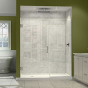 "Dreamline SHDR-243757210-01 Unidoor Plus Hinged Shower Door, Chrome, 37-1/2 to 38"" x 72"""