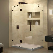 "Dreamline SHEN-1332460-06 QuatraLux Hinged Shower Enclosure, Bronze, 46-5/16"" x 32-1/4"" x 72"""