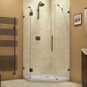 "Dreamline SHEN-2238380-06 PrismLux Hinged Shower Enclosure, Bronze, 38-1/4"" x 38-1/4"" x 72"""