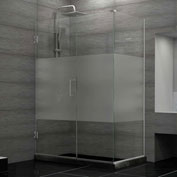 "Dreamline SHEN-24445300-HFR-01 Unidoor Plus Hinged Shower Enclosure, Chrome, 44-1/2"" x 30-3/8"" x 72"""
