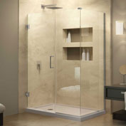 "Dreamline SHEN-24490340-04 Unidoor Plus Hinged Shower Enclosure, Brushed Nickel, 49"" x 34-3/8"" x 72"""