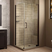 "Dreamline SHEN-4130341-06 Elegance Pivot Shower Enclosure, Bronze, 34"" x 30"" x 72"""
