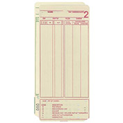 Amano Time Cards for MJR-7000, 0-99 Employee Count, 1,000/Pack