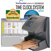 Amano Time Guardian® Automated Time Clock Hand Punch System, Gray, HP-1000/A164