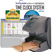 Amano Time Guardian® Automated Time Clock Hand Punch System, Gray, HP-3000E/A167