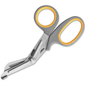 "Acme United Bent 7""L Bandage Shears Scissors Gray/Yellow"
