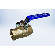 American Valve 1-1/4 In. Lead-Free Brass Full Port Ball Valve - FIP Threaded Ends - Pkg Qty 4