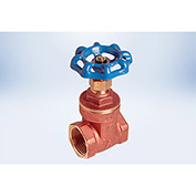 American Valve 1 In. Lead-Free Brass Full Pattern Gate Valve - FIP Threaded Ends - Pkg Qty 6