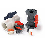 American Valve 3/4 In. PVC 1-Piece Ball Valve - Sche. 40 - 150 PSI - Socket - Pkg Qty 20