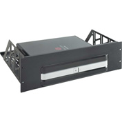 AVTEQ CRS-PLCM-HDX Custom Rack Shelf, Steel, Black