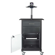 "AVTEQ GM-200P Projector Cart, Steel, 41""H x 23""W x 21""D, Black"