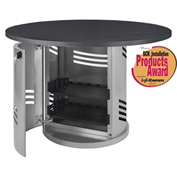 AVTEQ PD-100 Communications Pedestal, Steel, Silver/Black