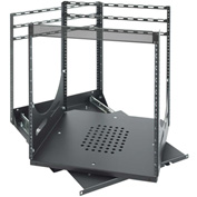 Lowell SR-12 Sliding Rotating Rack, Steel, Black