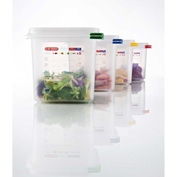 Araven 03031 - Food Container, Airtight, W/Lid, PP, 6.3 Qt., 1/3 Size, Colorclip®, Transparent - Pkg Qty 6
