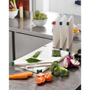 """Araven 08103 - Cutting Board, Non-Slip, HDPE, 12""""W x 8-1/8""""D x 3/4""""H, White With Assorted Colors - Pkg Qty 6"""