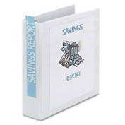 "Showcase Reference View Binder, 2"" Capacity, White"