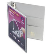 """Nonstick Heavy-Duty Ezd Reference View Binder, 1"""" Capacity, Gray"""