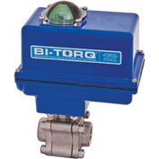 "BI-TORQ 1-1/4"" 3-Pc SS NPT Fire Safe Ball Valve W/NEMA 4 115VAC/4-20mA Positioner"