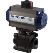"BI-TORQ 1-1/4"" 3-Pc WCB/SS NPT Fire Safe Ball Valve W/Dbl. Acting Pneum. Actuator"