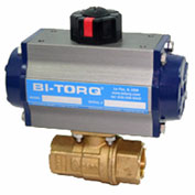 "BI-TORQ 1/2"" 2-Pc Brass NPT Ball Valve W/Dbl. Acting Pneum. Actuator"
