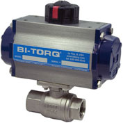 "BI-TORQ 1-1/4"" 2-Pc SS NPT Ball Valve W/Dbl. Acting Pneum. Actuator"