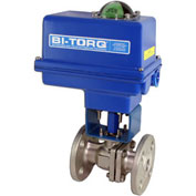 "BI-TORQ 4"" SS Split Body ANSI 150# Flanged Ball Valve W/NEMA 4 115VAC/4-20mA Positioner"